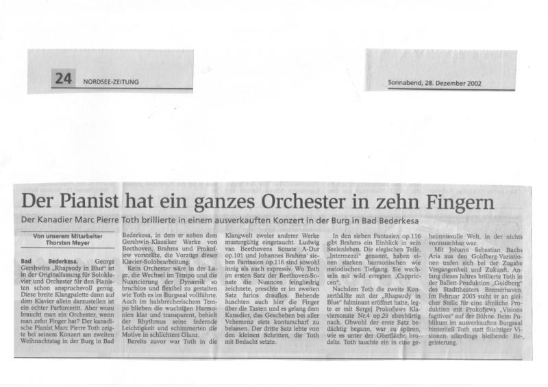 Solo Recital Gershwin Solo Rhapsody